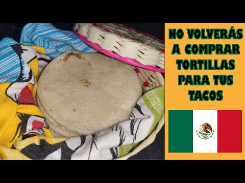 Receta de tortillas de maíz para tacos