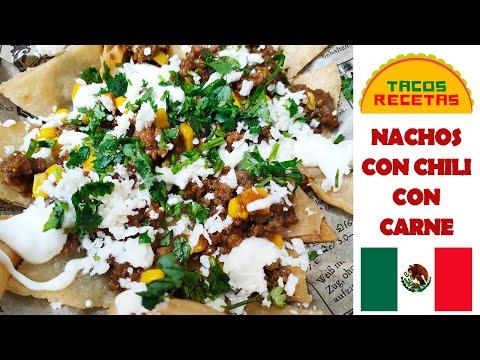 Nachos con chili con carne: una tormenta de sabor