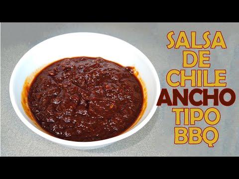 Salsa de chile ancho estilo BBQ #shorts #salsashorts