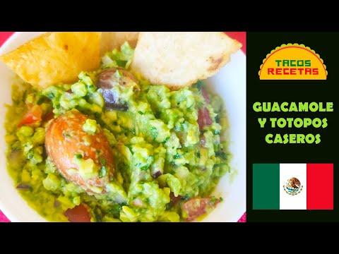 Receta de guacamole casero y totopos