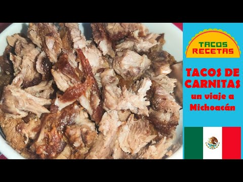 Tacos de carnitas   Receta