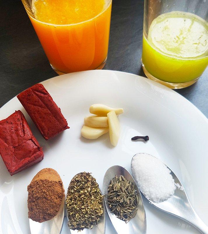 Ingredientes de la cochinita pibil