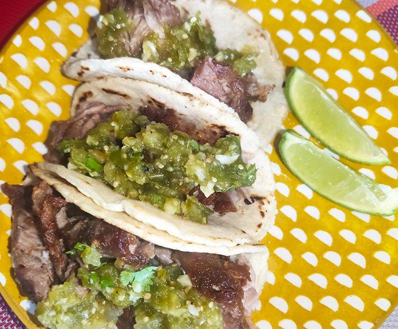 Receta de tacos de carnitas michoacanas