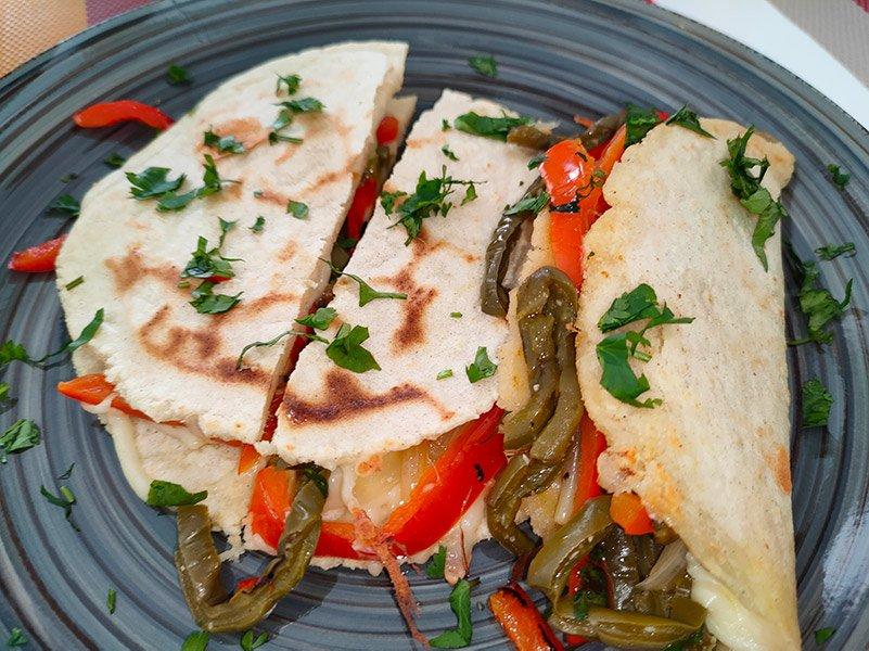 Receta de quesadillas vegetarianas con nopales