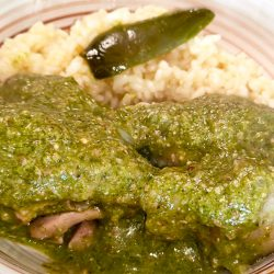 Receta de mole verde con pollo